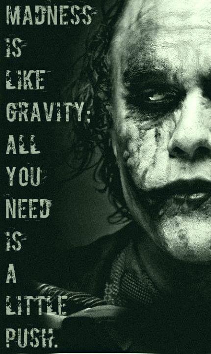 Joker <3 Feeing crazy. Pinning this to inspirational. Haha