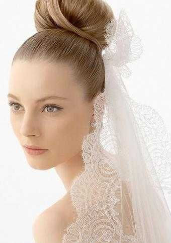 Good Looking High Bun Hairstyles With Veil Trends4ever