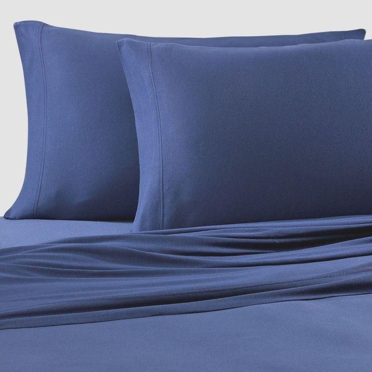 Pure Beech Jersey Knit Twin Sheet Set 100% Modal Navy Blue #PureBeech