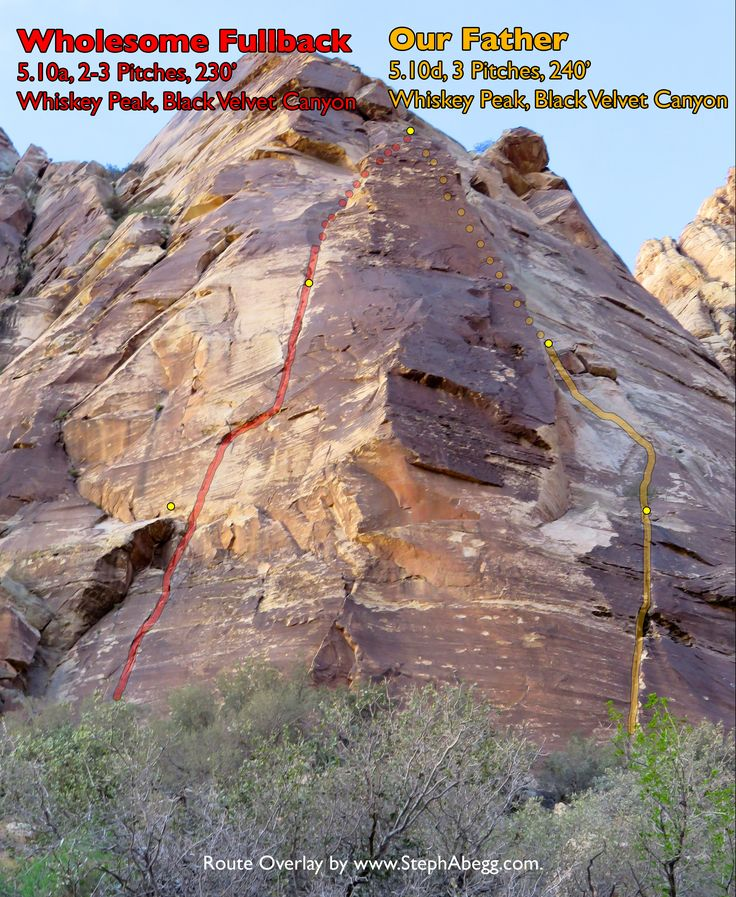 Wholesome Fullback 5.10a, Black Velvet Canyon. Whiskey Peak
