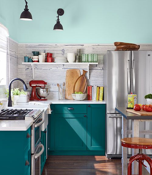 Teal Cupboard Inspiration, Teal Cabinets And Green