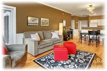 $185 or 165 weekdays.  Bell town area.  Nice colors and hardwood floors.  Gift basket!