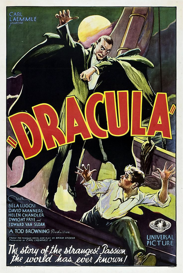 """Carl Laemmle Presents """"DRACULA"""" With Bela Lugosi, David Manners, Helen Chandler, Dwight Frye, And Edward Van Sloan A Tod Browning Production From The Famous Novel And Play By Bram Stoker Produced By C"""