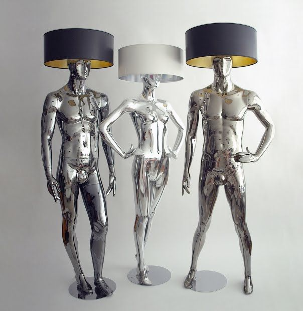 Are you inspired by these mannequin lamps? MannequinMadness.com sells new  and used mannequins