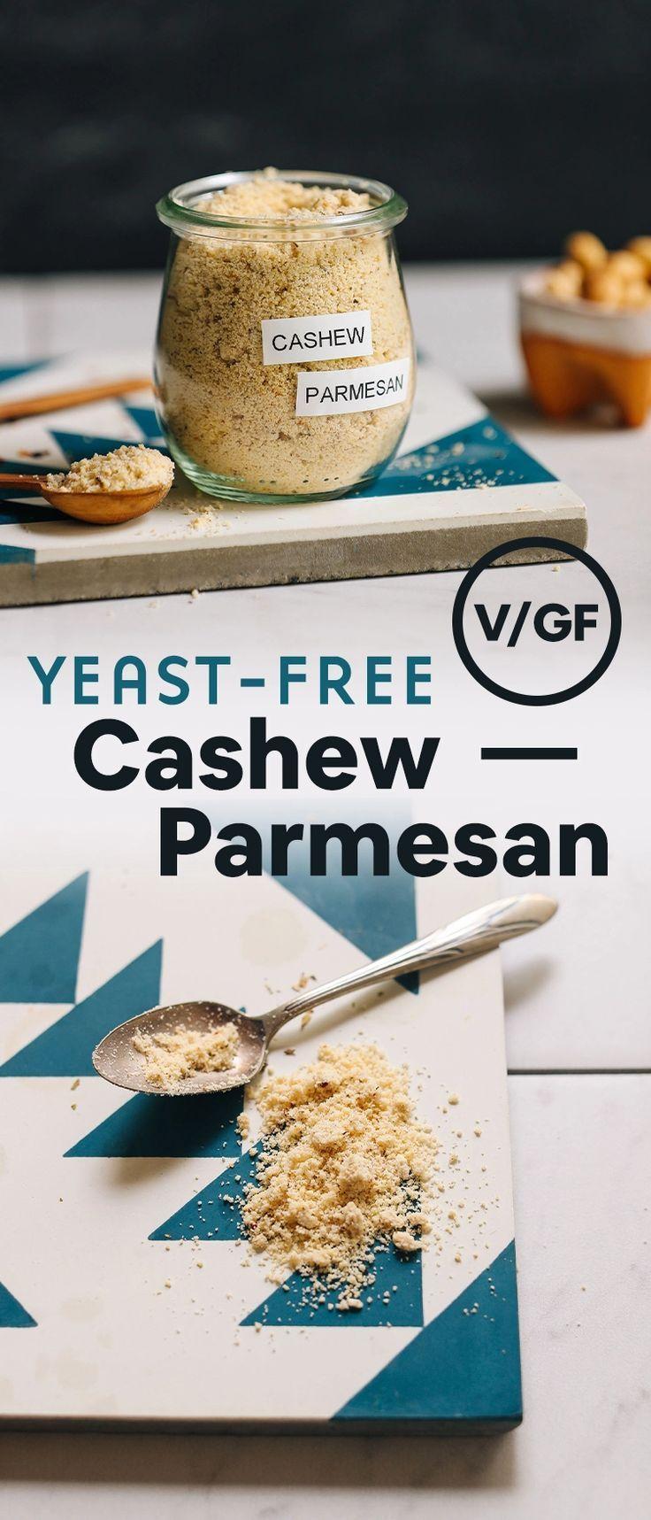 Yeast Free Cashew Parmesan 5 Minutes Minimalist Baker Recipes Recipe Recipes Vegan Cheese Baker Recipes