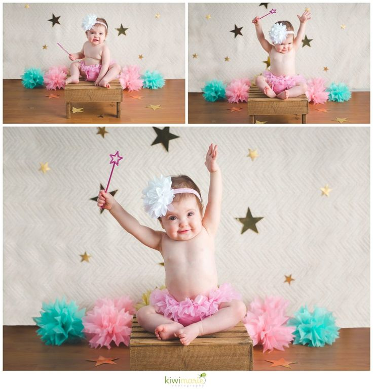 twinkle twinkle little star birthday session three photos of one year old girl…