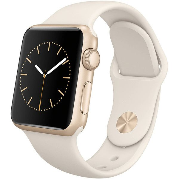 Women's Apple Watch ($220) ❤ liked on Polyvore featuring jewelry, watches, gold, jewelry & watches, women's watches, gold jewellery, gold jewelry, yellow gold jewelry, gold wristwatch and sports watches