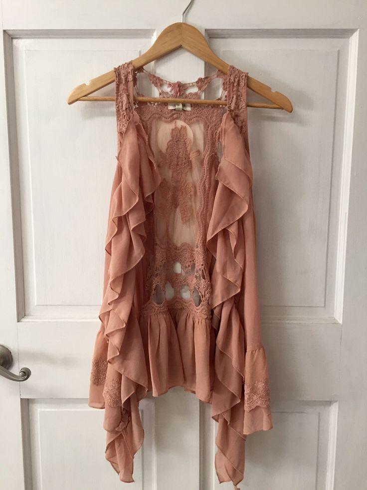 Ruffle & Lace Vest