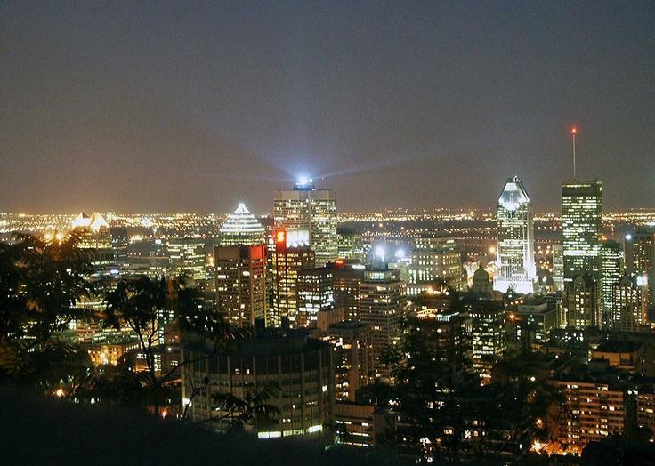 Montréal depuis Mont Royal