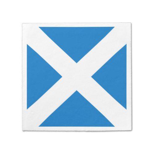 National Flag of Scotland Saint Andrew's Cross Paper Napkin