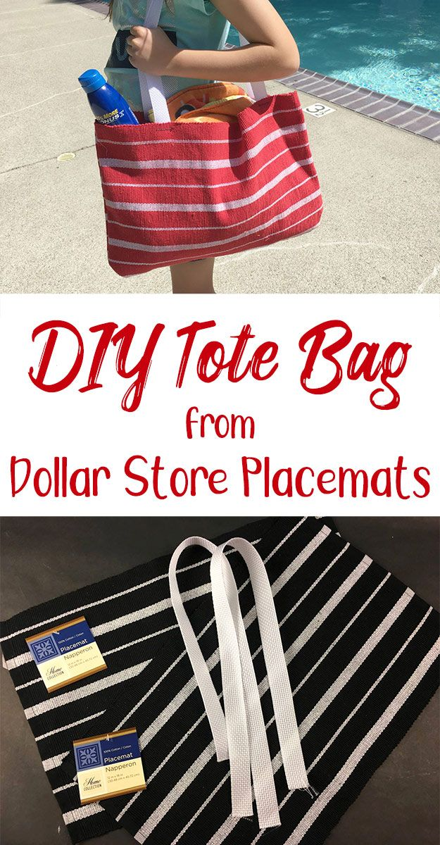 Easy DIY Tote Bag from Dollar Store Placemats (Video Tutorial)