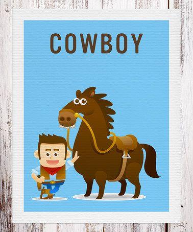 Love this Blue Brown-Hair Cowboy Print on #zulily! #zulilyfinds