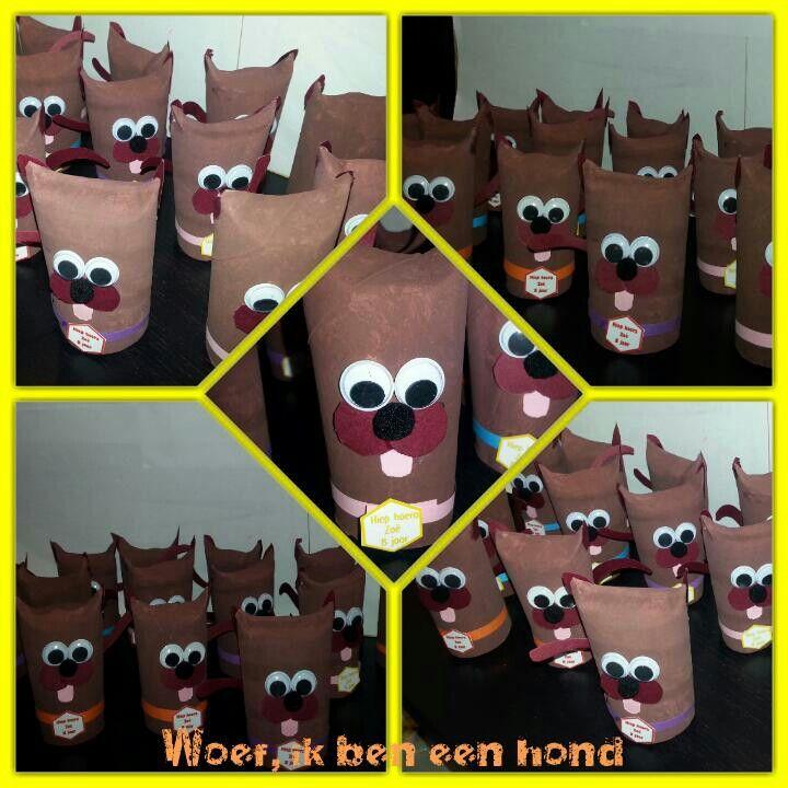 WOEF, Ik ben een hond met popcorn en brownicake   Te bestellen bij KellieS Zonder inhoud 1,50 Met inhoud (cake, snoep, rozijnen e.d.) 2,00 Prijzen zijn excl. BTW