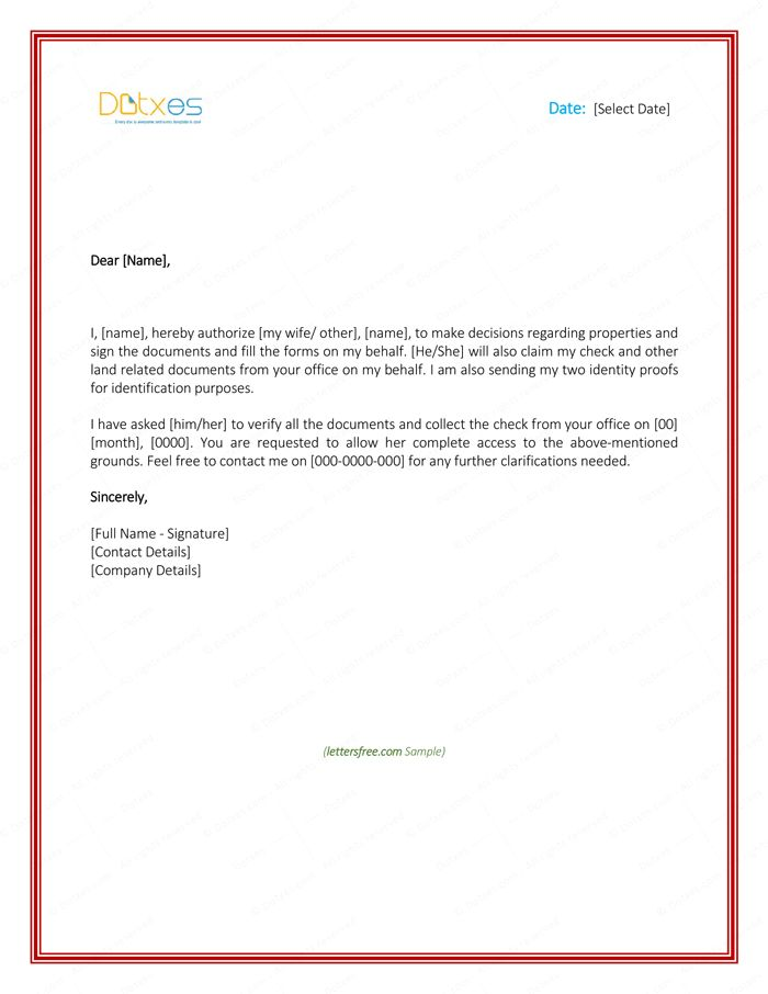 Authorization Letter For Bank Loan Closure Cover Templates