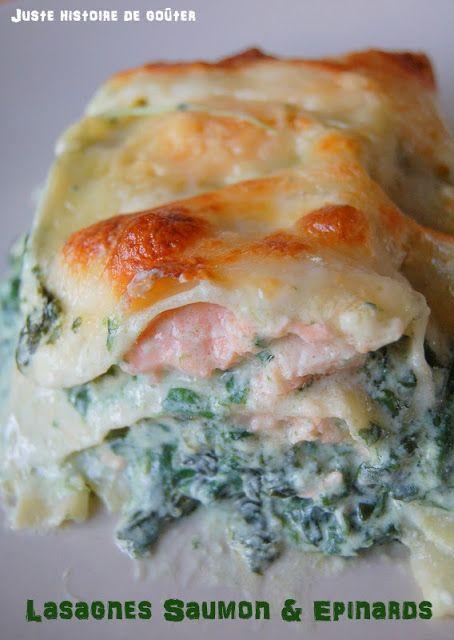 Juste histoire de goûter: Lasagnes au Saumon & Epinards