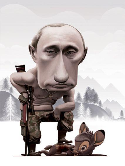 Putin hunting by Cristo Salgado