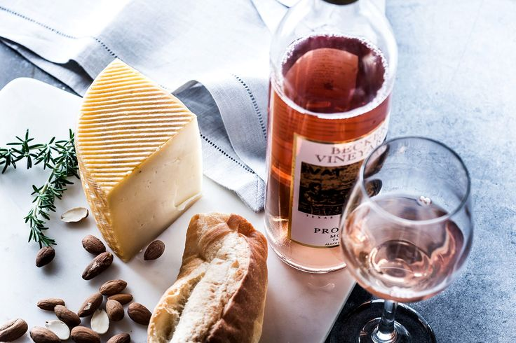 Wine, bread, and cheese