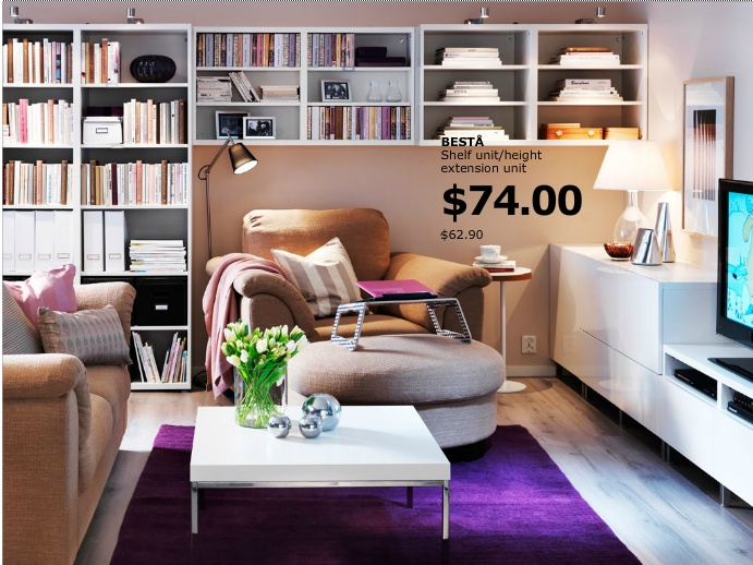 Back Den Shelving And Furniture Arrangement Make It A Nook Find This Pin More On Ikea Living Room
