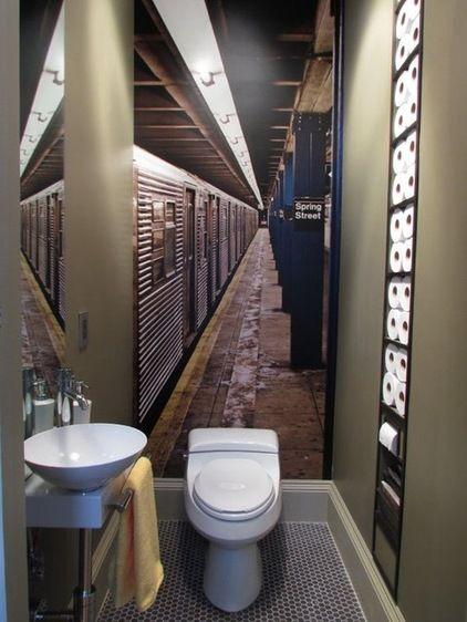 toilette - sol - hexagone en monochrome
