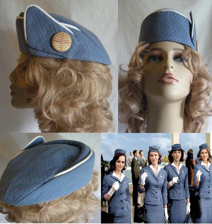 Reproduction Vintage 1963 PAN AM STEWARDESS HAT