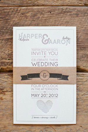 Fingerprint Modern Letterpress Wedding Invitations Cordes Printing 2 300x450 Aaron + Harpers Fingerprint Heart Wedding Invitations