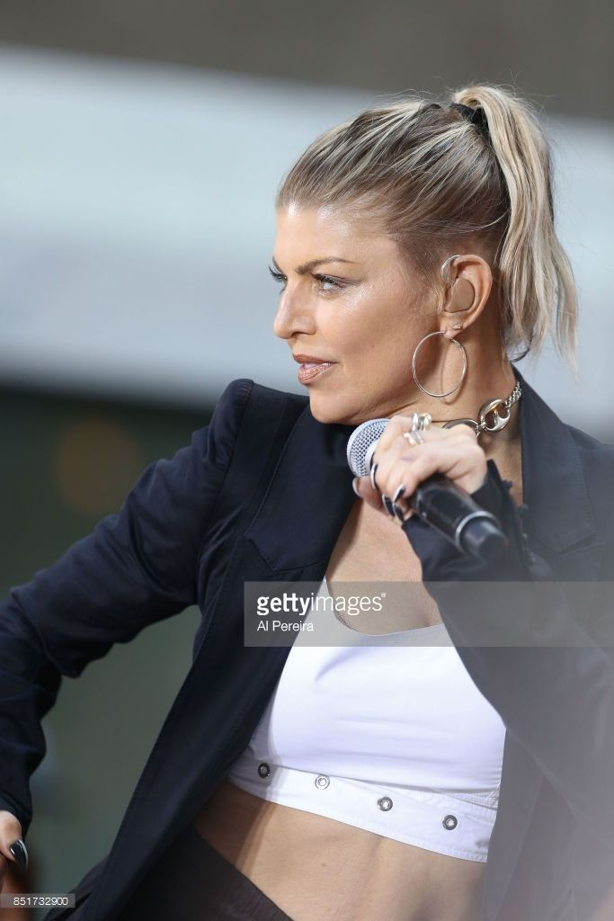 Fergie performs on NBC's 'Today' Show at Rockefeller Plaza on September 22, 2017 in New York City.