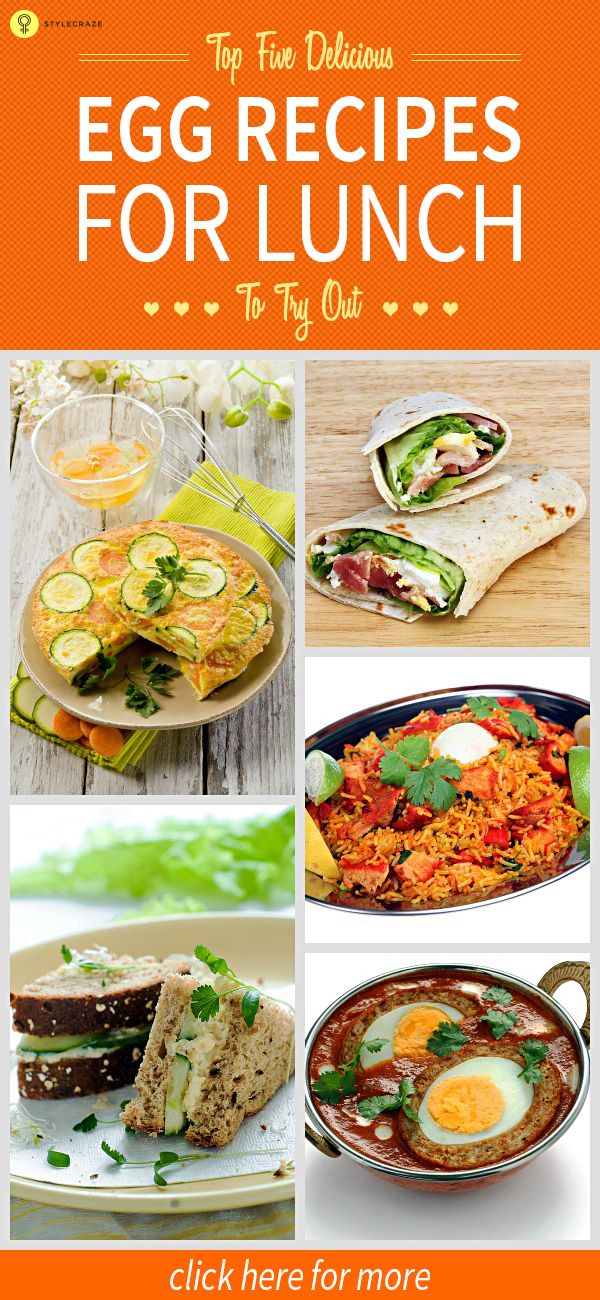 Top 5 Delicious Egg #Recipes For Lunch To Try Out