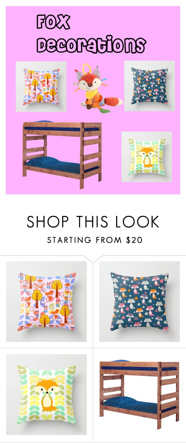"""Fox decorations"" by cocodes on Polyvore featuring interior, interiors, interior design, home, home decor, interior decorating, Skip Hop and bedroom"