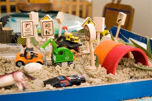 Sand play is so important for children's imaginations, this site has a lot of wonderful ideas too.