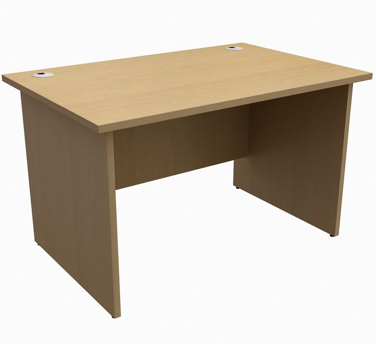 In Stock For Next Working Day Delivery, This Unite Desk Has An Elegant  Light Oak Wood Finish, With Sturdy Panel Legs U0026 Cable Management In A Range  Of Sizes.