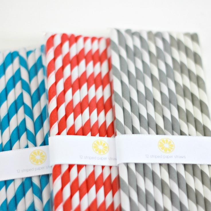 Striped Paper Straws by we love citrus: Party Time, Striped Straws, Wedding Ideas, Paper Straws, Products, Party Ideas, Citrus Straws