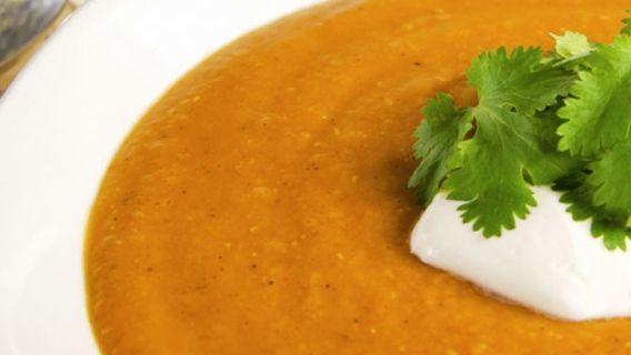 Soupe marocaine aux lentilles rouges