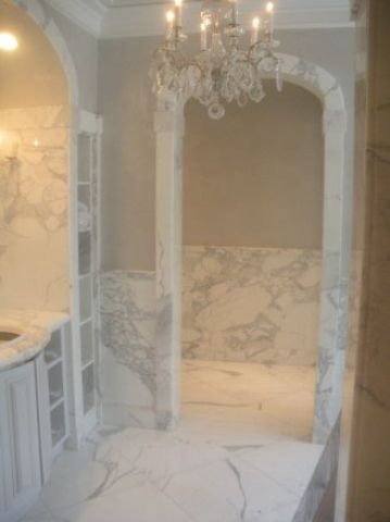 Statuary White Marble Bathroom