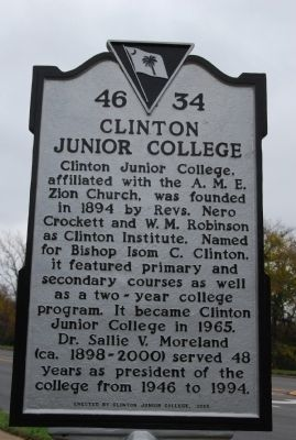 Clinton Junior College historical marker