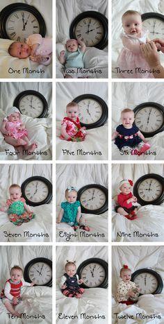 Babys vom 1.-12.Lebensmonat in Bildern :-)