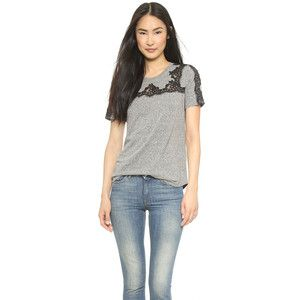 Rebecca Taylor Top With Lace Piecing - Panther