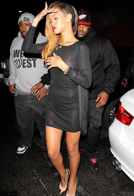 Hot! or Hmm...: Rihanna's Eden Nightclub Stella McCartney Fringe Dress - The Fashion Bomb Blog : Celebrity Fashion, Fashion News, What To Wear, Runway Show Reviews