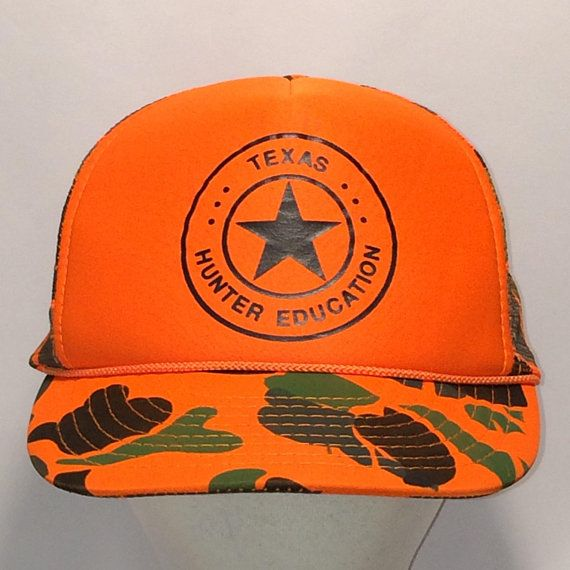 9bd14fceec8aa Vintage Snapback Trucker Hat Hunting Camo Cap Blaze Orange Hat Mesh Back  Rope Baseball Cap Hats For Men Texas Hunter Education T28 MA8065