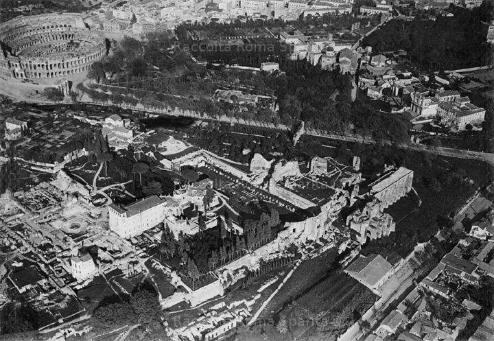 Palatino dall'alto (veduta dal dirigibile) Anno: Primo quarto 1900