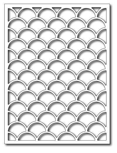 Frantic Stamper - Precision Dies - Fish Scales Card Panel