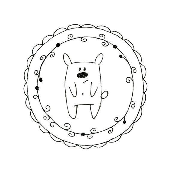 Hand Embroidery Bear Digital Downloadable Pattern Teddy Bear pdf 0028