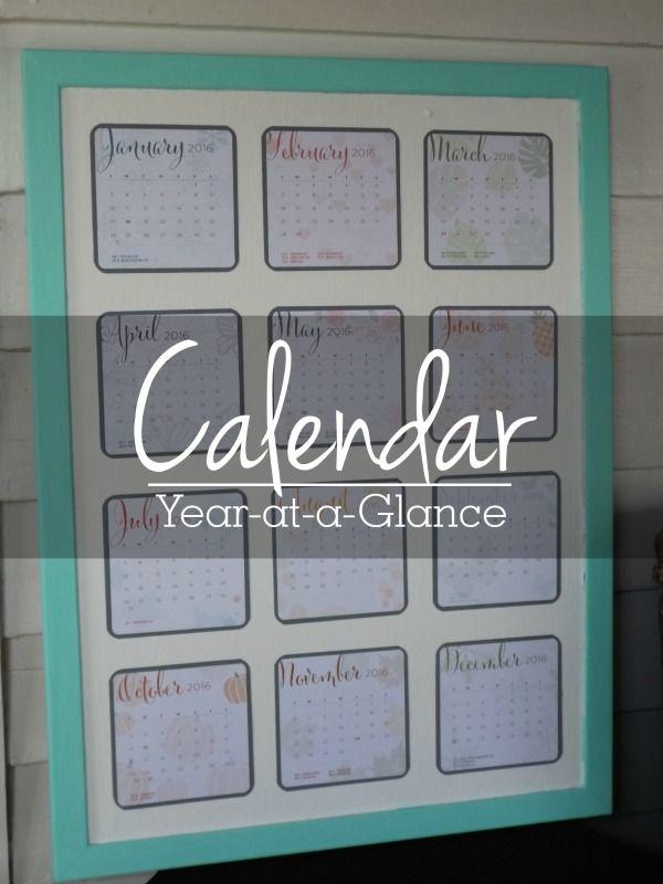 Year-at-a-glance corkboard calendar -Today I want to share this simple Year-at-a-glance Corkboard Calendar with you. A few weeks ago I found this