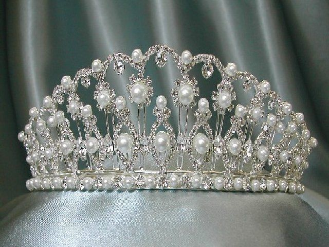 Pearl and diamond tiara that belonged to Catherine the Great of Russia.