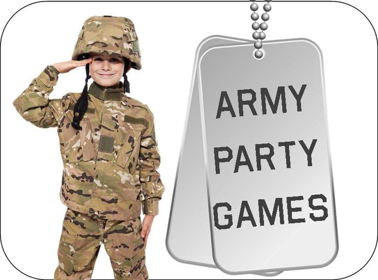 Army Party Games and Ideas, plus printable Army Party Supplies!