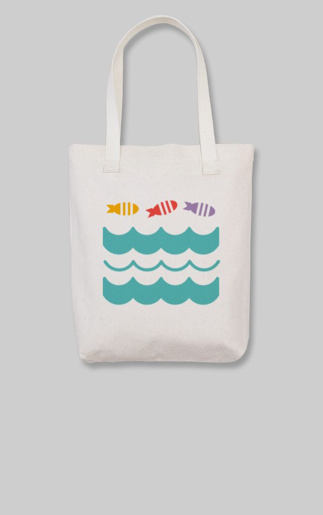 Fish in the sea Tote Bag by WIE. Get it while it's hot! Check out my custom tote, for sale for a limited time through Makr: http://marketplace.makrplace.com/campaigns/54670050a7916902009cd4e0