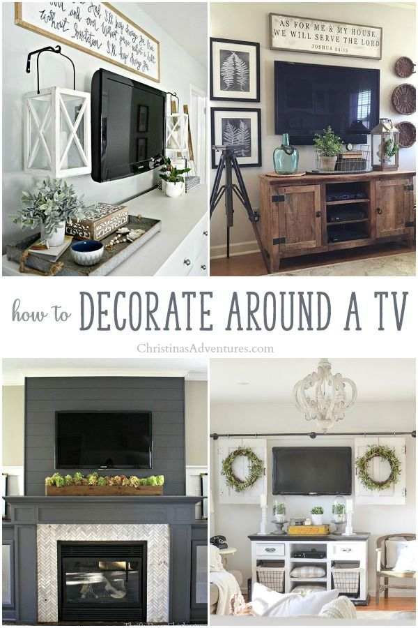 How to decorate around a TV | Home decor styles, Tv decor ...