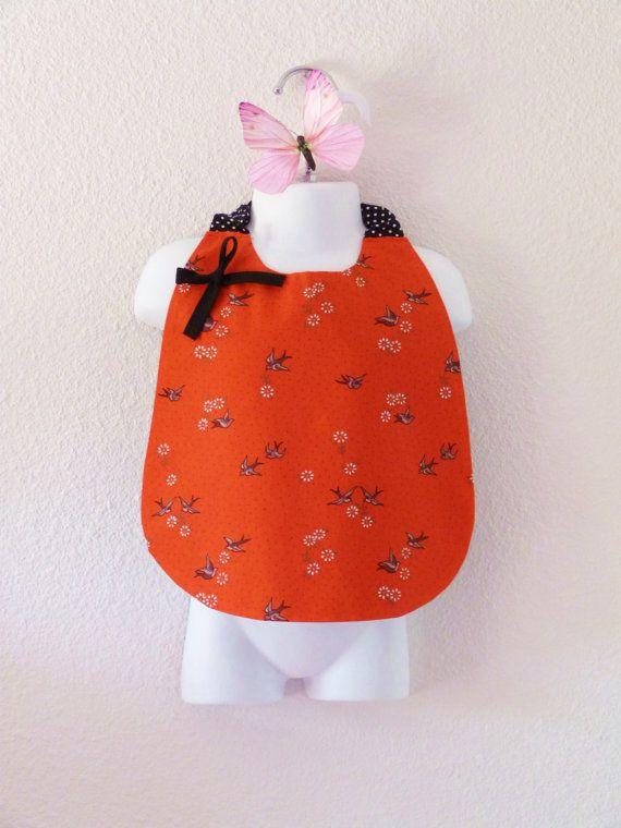 Large bib or elastic napkin for toddler and par LittlePoupettes