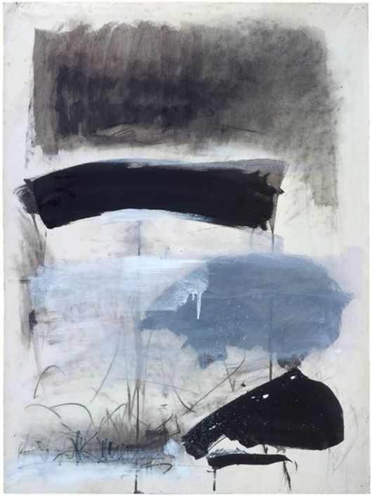 Joan Mitchell. Untitled, 1970. Ink, gouache and pastel on paper, 29 1/2 x 21 3/4 inches (74.9 x 55.2 cm). Collection of the Joan Mitchell Foundation, New York.    © Estate of Joan Mitchell.