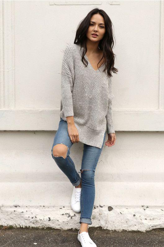 Sunday Lounge Knit Grey - Madison Square