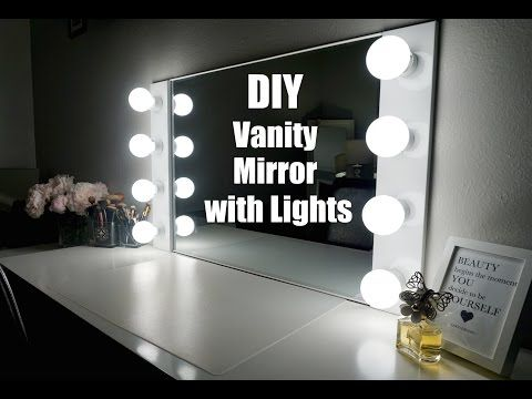 DIY VANITY MIRROR WITH LIGHTS [UNDER $100!!!]